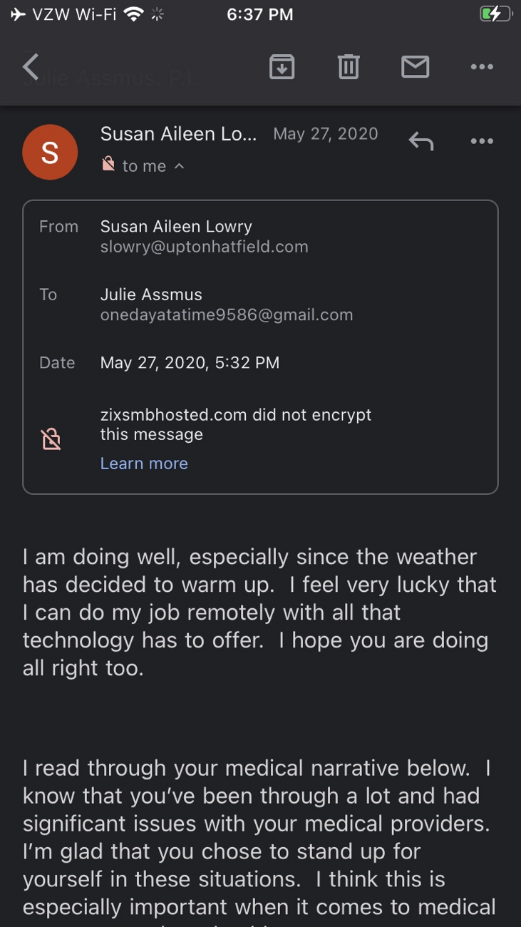 Email frOM #SUSANLOWRY