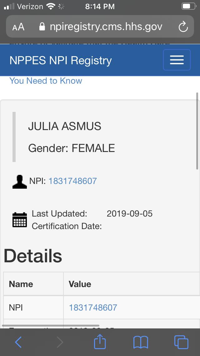 NPI Registered